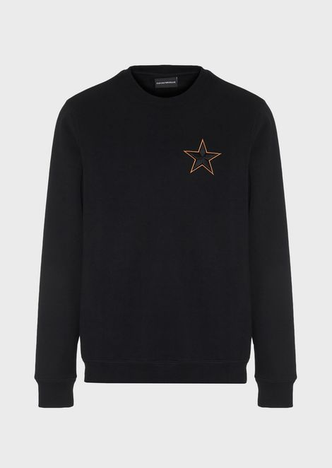 Sweatshirt with star and embroidered logo