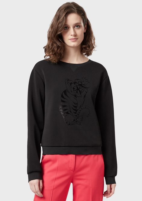 Sweat-shirt avec imprimé LeoTigre