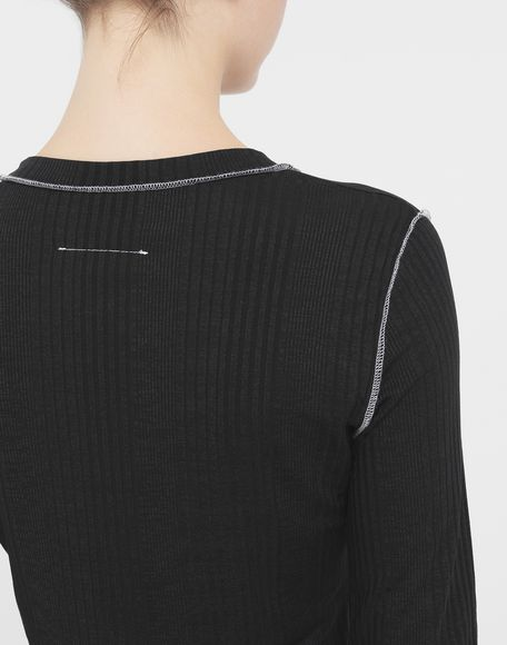 MM6 MAISON MARGIELA Ribbed pullover Long sleeve t-shirt Woman b