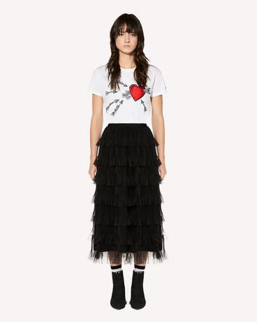 REDValentino T-shirt with Heart and Arrow embroidery