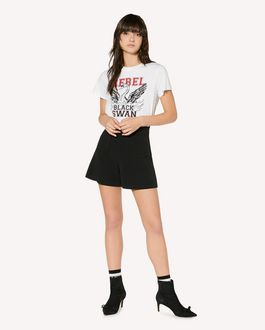 "REDValentino ""Rebel Black Swan"" printed t-shirt"