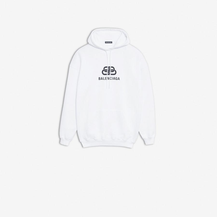 New BB Hoodie WHITE/BLACK for Men