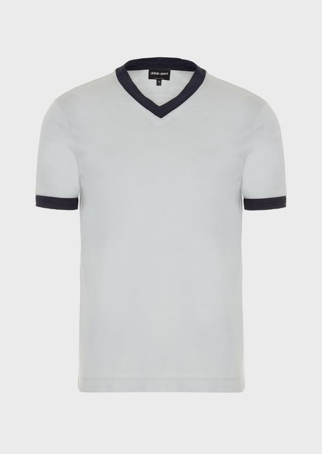 T-shirt in viscose and silk jersey