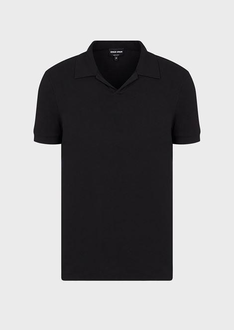 Polo in jersey di viscosa stretch