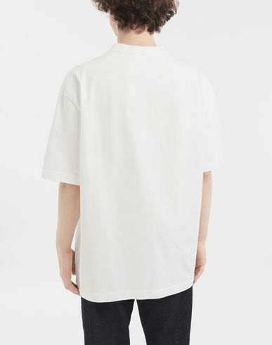 TOPS 'Caution' label T-shirt  White
