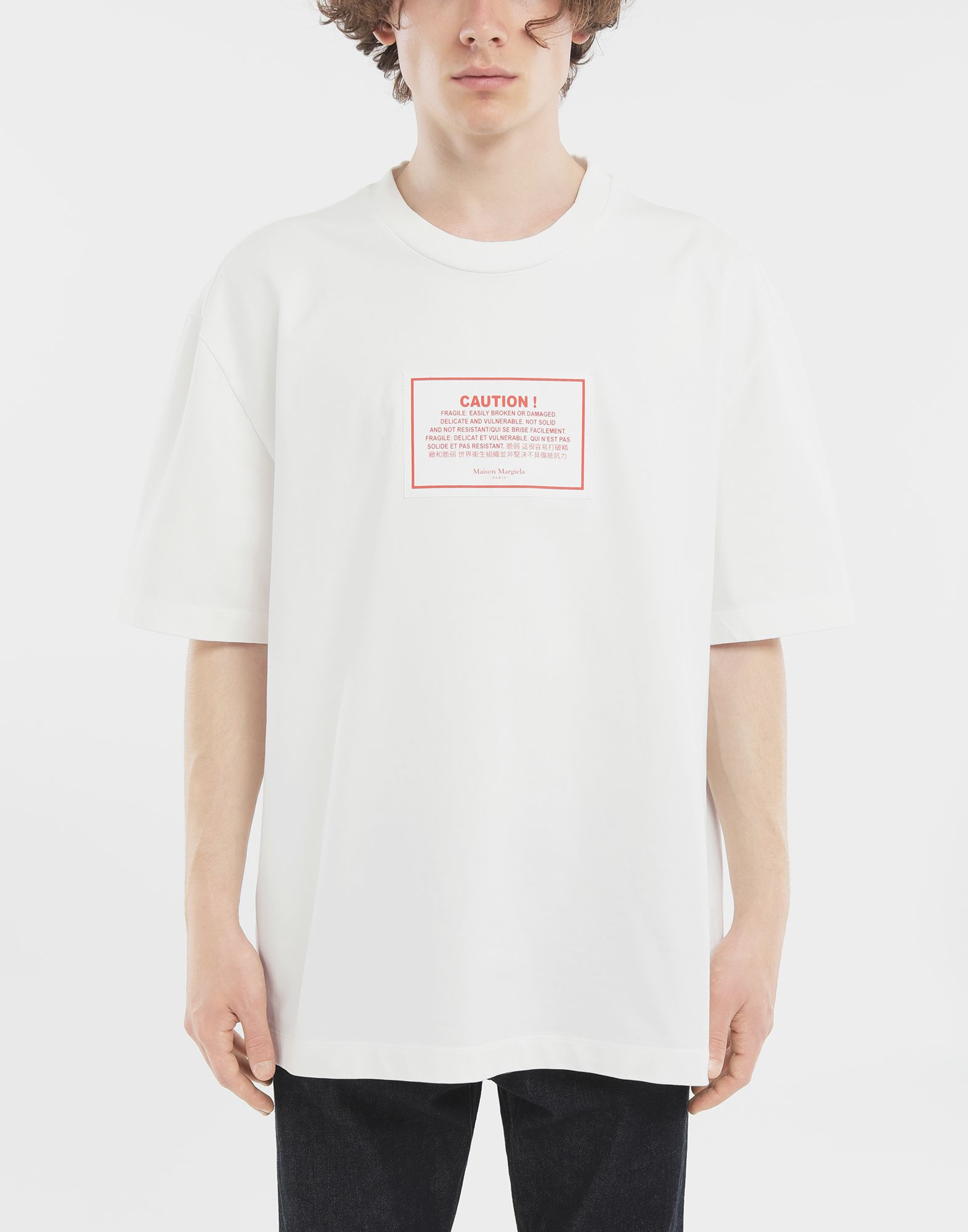 MAISON MARGIELA T-Shirt 'Caution' Kurzärmliges T-Shirt Herren r
