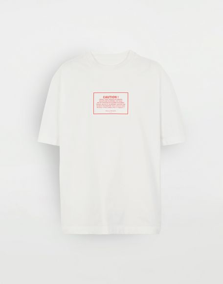 MAISON MARGIELA 'Caution' label T-shirt Short sleeve t-shirt Man f