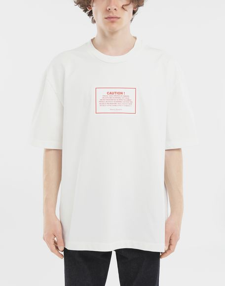MAISON MARGIELA 'Caution' label T-shirt Short sleeve t-shirt Man r