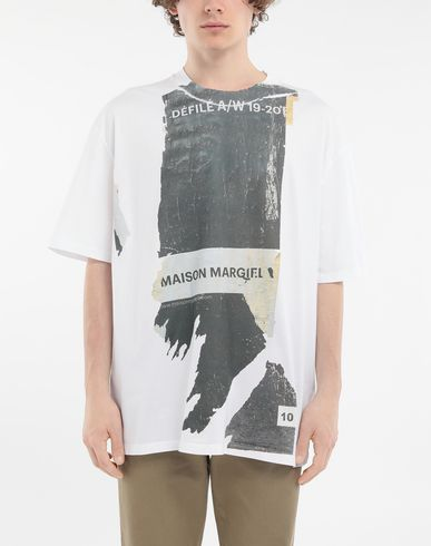 MAISON MARGIELA Short sleeve t-shirt Man 'Défilé A/W' destroyed T-shirt r