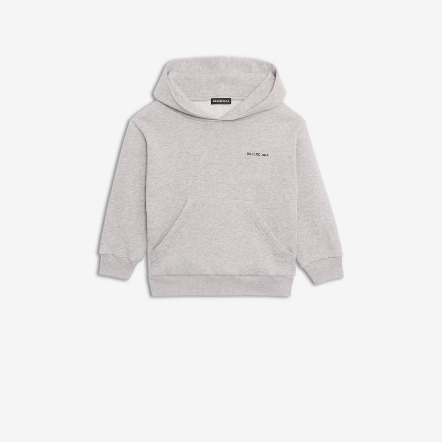 Hoodie Sweater Balenciaga Kids Gray
