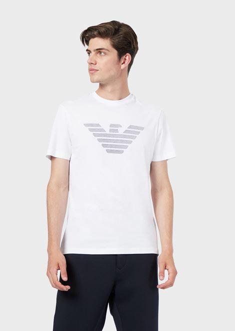 d5fc149b3eae Cotton jersey T-shirt with eagle print