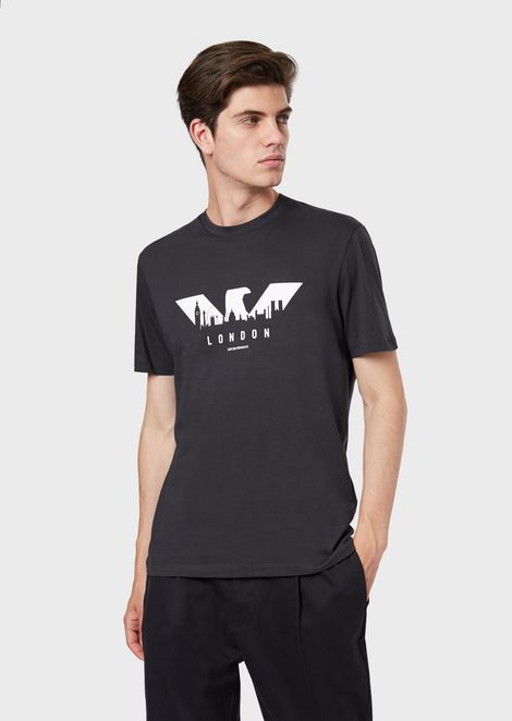 Jersey T-shirt with logo and city print