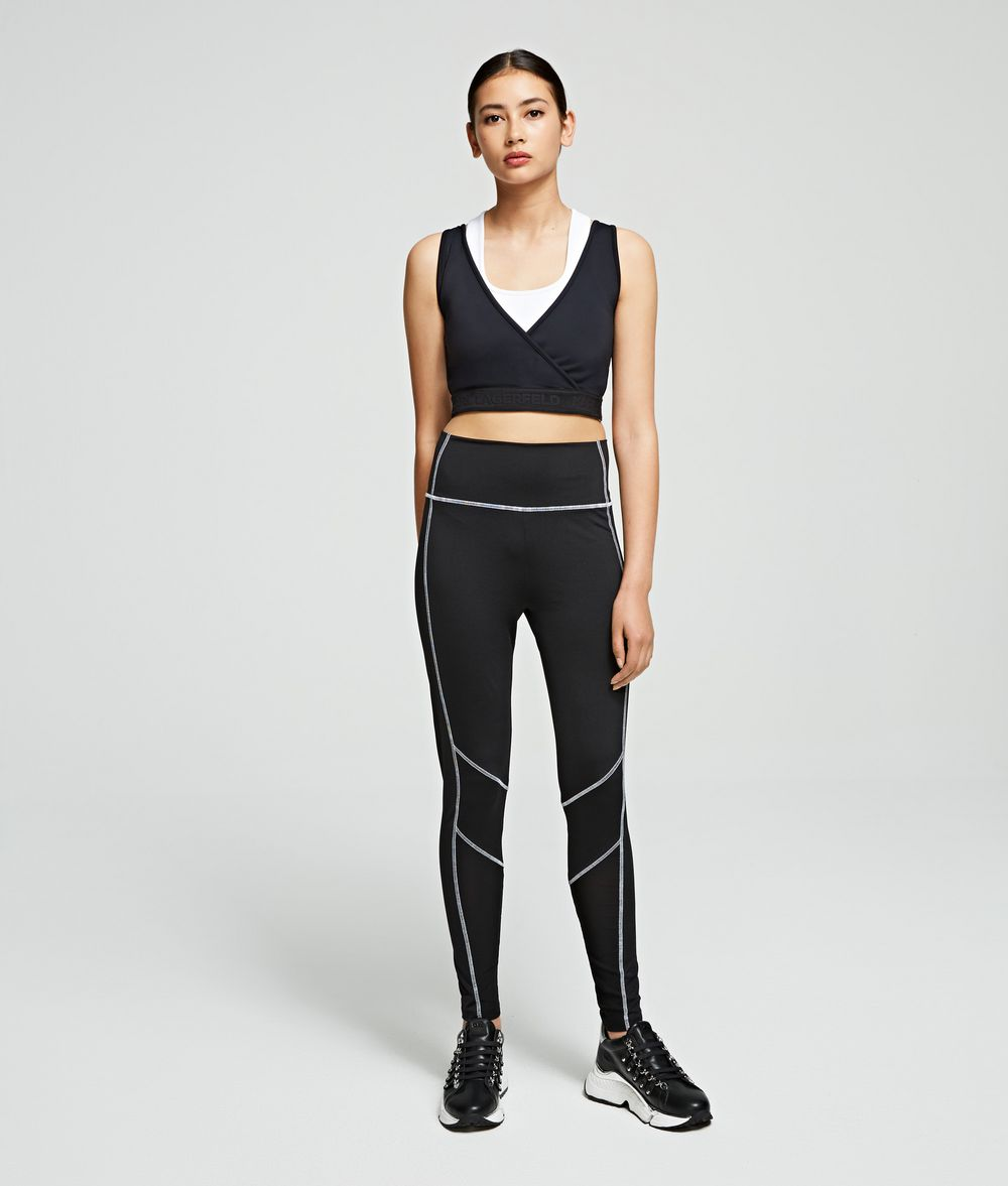 KARL LAGERFELD Rue St Guillaume Technical Top Tank Woman d