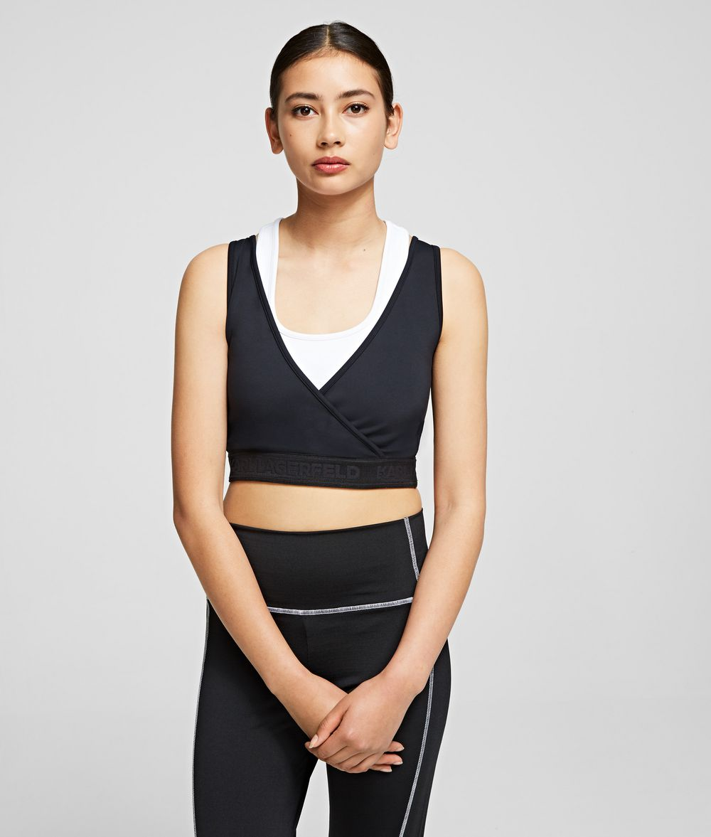 KARL LAGERFELD Rue St Guillaume Technical Top Tank Woman f