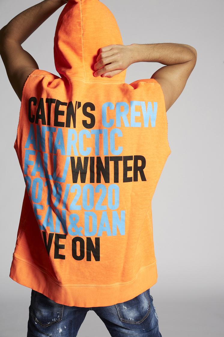 2a3c48a8e Dsquared2 Short Sleeved Slouch Fit Sweatshirt Orange - Sweatshirts ...