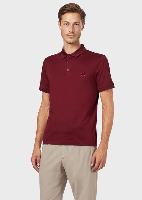 Poloshirt aus Mikropikee in Baumwollstretch