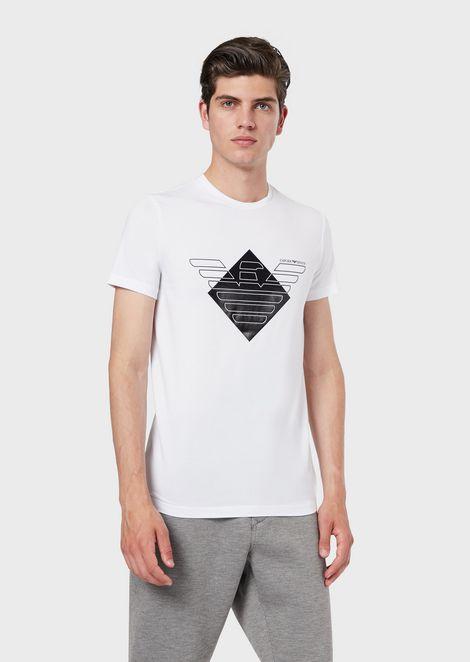 Camiseta de punto elástico con logotipo