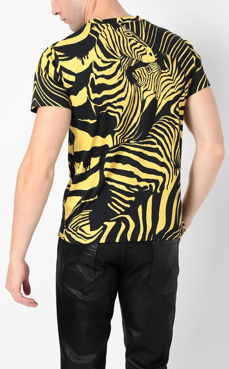 JUST CAVALLI T-shirt with zebra-stripe print Short sleeve t-shirt Man a
