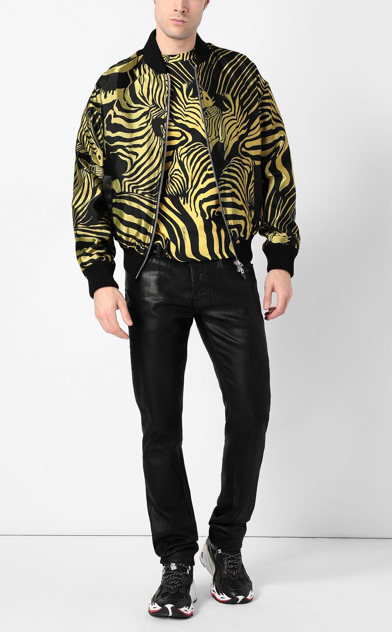 JUST CAVALLI T-shirt with zebra-stripe print Short sleeve t-shirt Man d