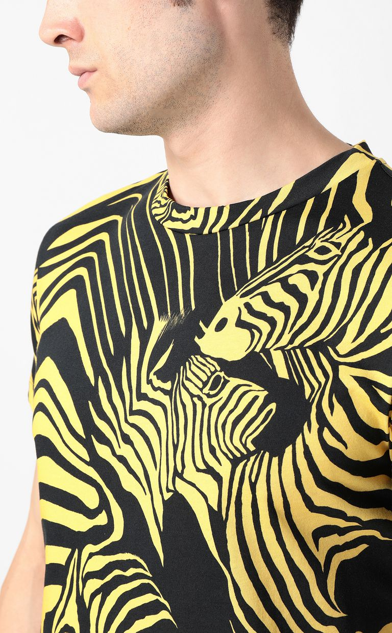 JUST CAVALLI T-shirt with zebra-stripe print Short sleeve t-shirt Man e