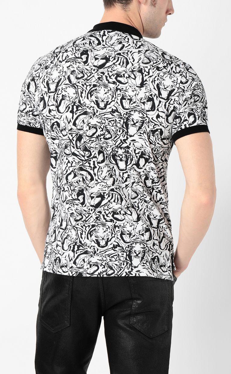 JUST CAVALLI Tiger-print polo shirt Polo shirt Man a