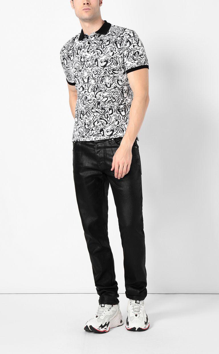 JUST CAVALLI Tiger-print polo shirt Polo shirt Man d