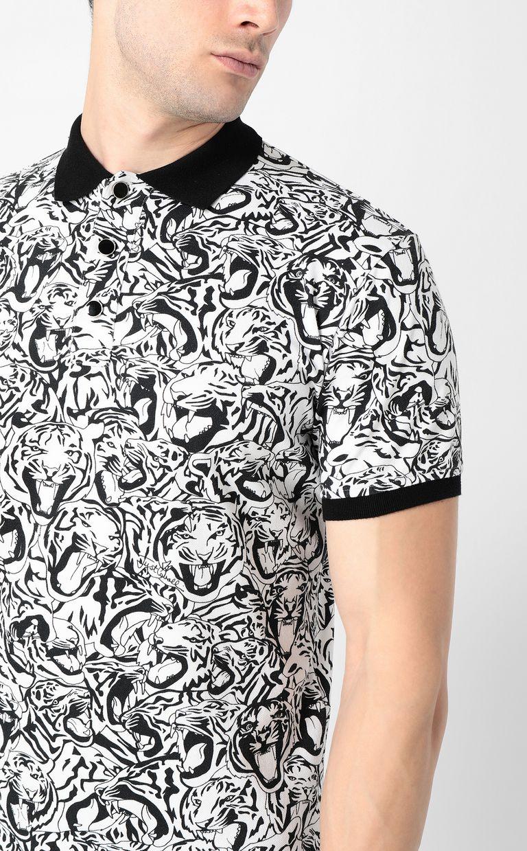 JUST CAVALLI Tiger-print polo shirt Polo shirt Man e