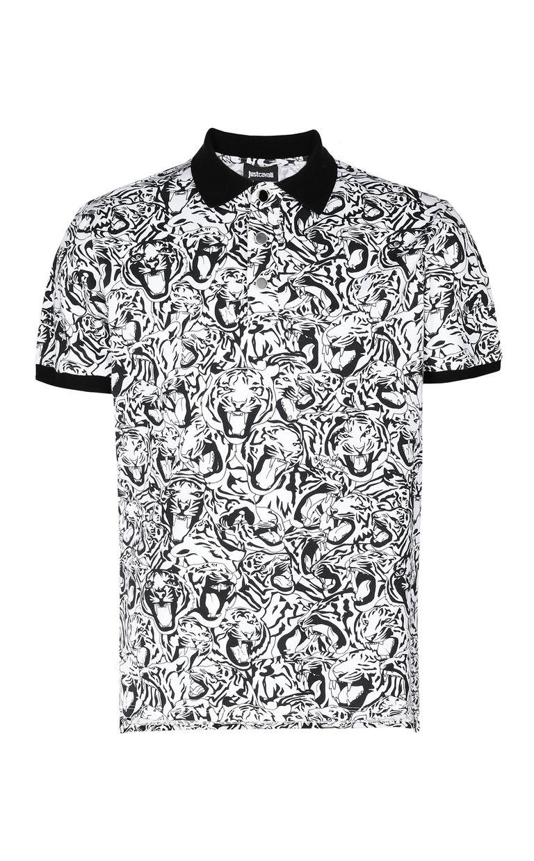 JUST CAVALLI Tiger-print polo shirt Polo shirt Man f
