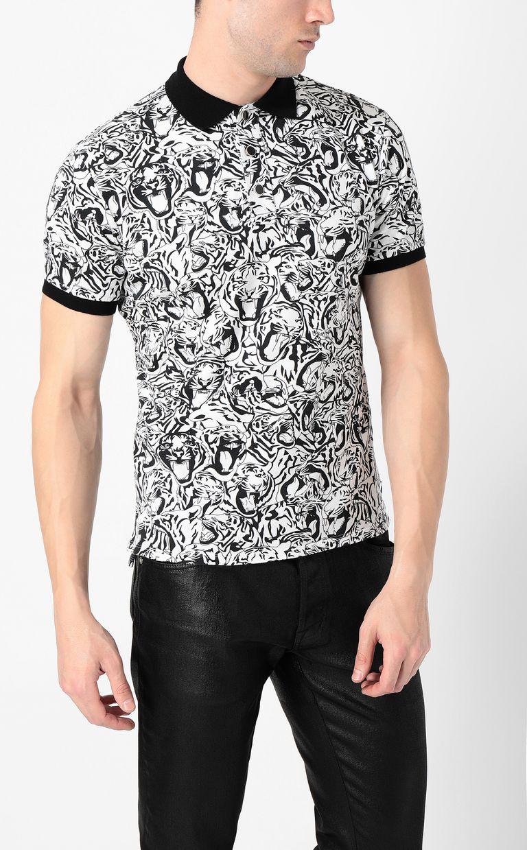 JUST CAVALLI Tiger-print polo shirt Polo shirt Man r