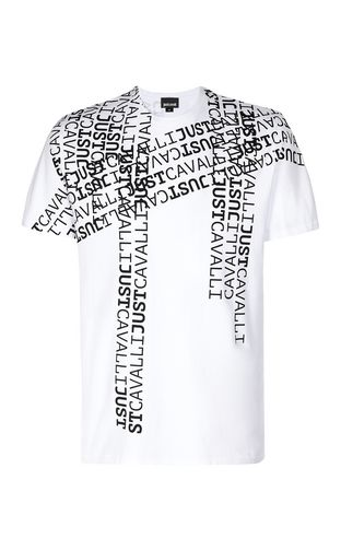 JUST CAVALLI Short sleeve t-shirt Man T-shirt with Just logo f