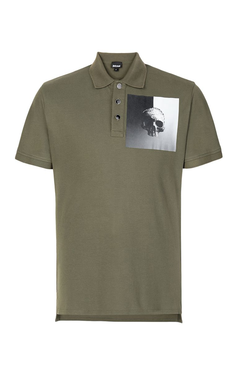 JUST CAVALLI Polo shirt with skull Polo shirt Man f