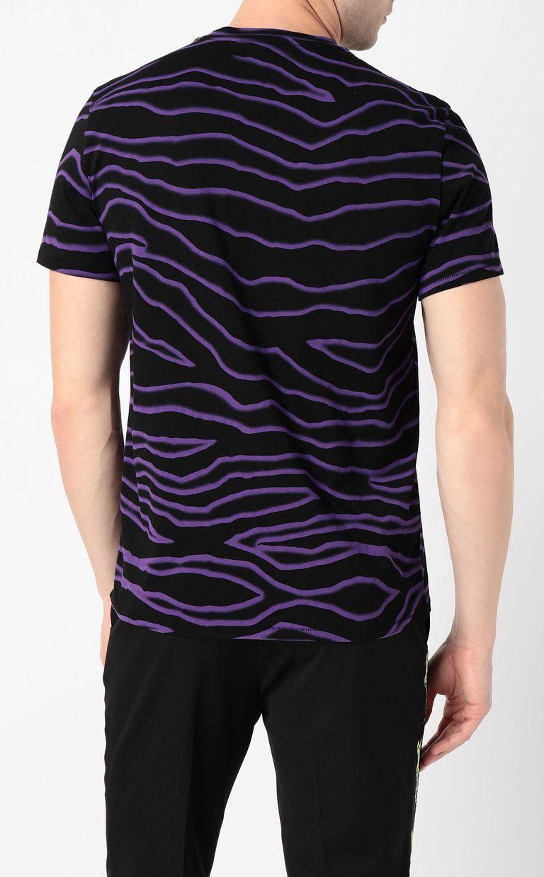 JUST CAVALLI T-shirt with neon-zebra print Short sleeve t-shirt Man a