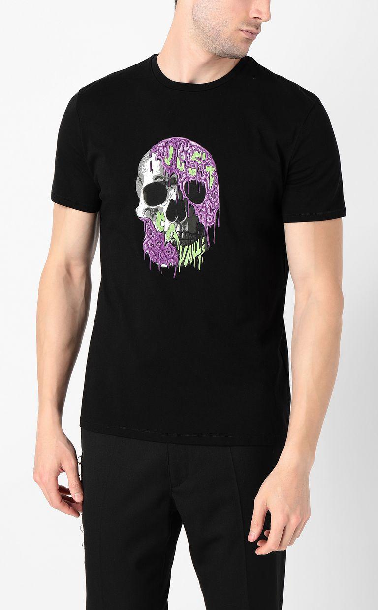 JUST CAVALLI T-shirt with skull Short sleeve t-shirt Man r