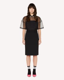 REDValentino Silk-organza dress with rhinestone embroidery
