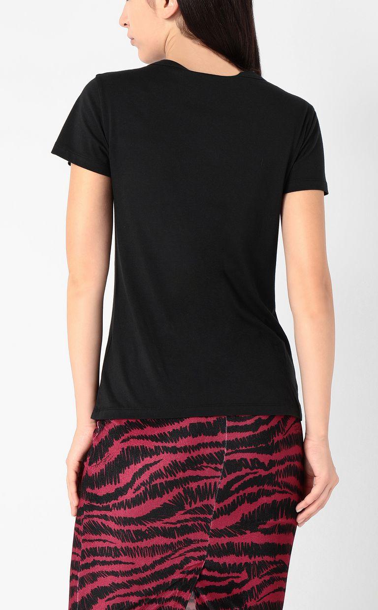 JUST CAVALLI T-shirt with logo print Short sleeve t-shirt Woman a