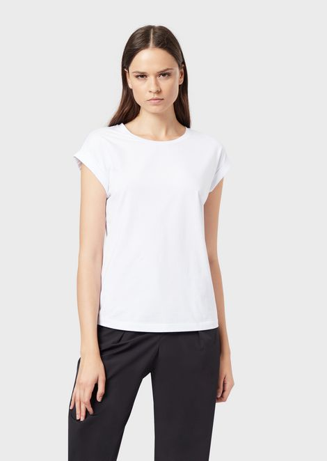 T-Shirt aus merzerisiertem Jersey