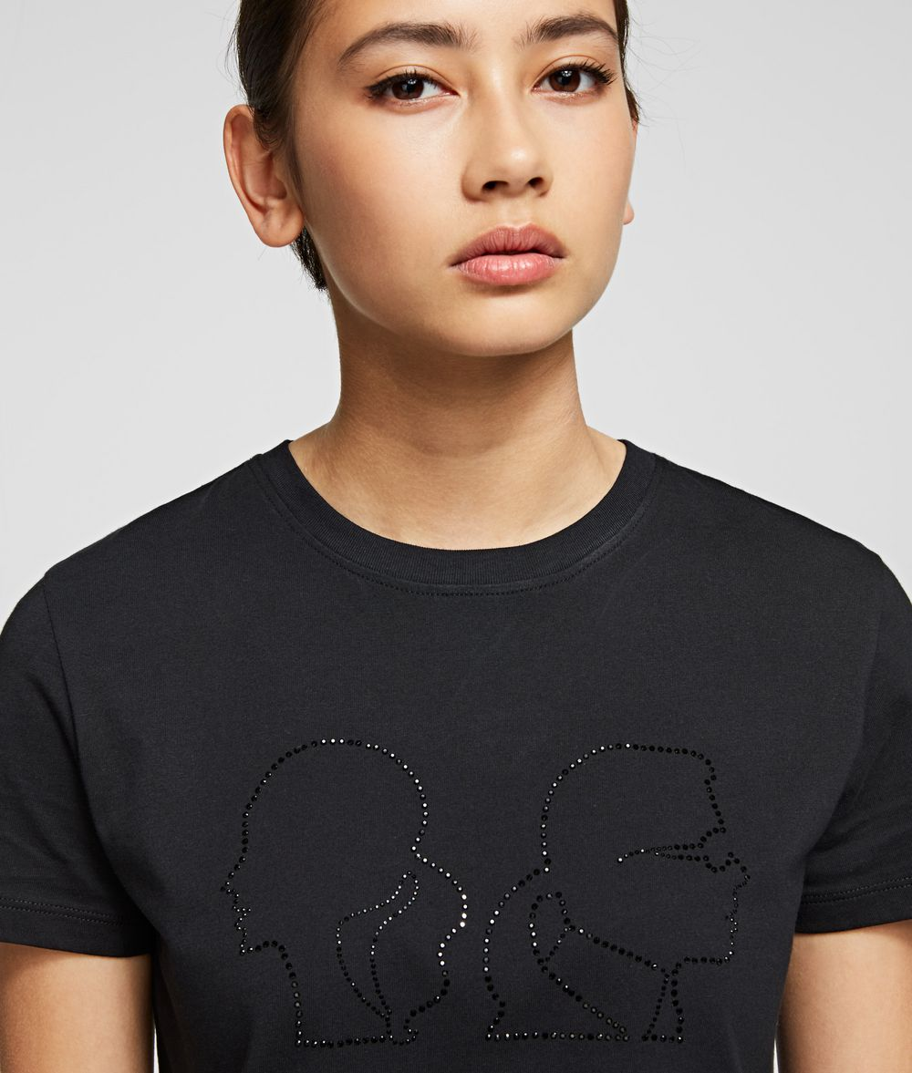 KARL LAGERFELD Karl x Olivia Profile T-Shirt T-shirt Woman d
