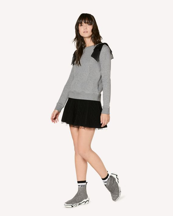 REDValentino Sweatshirt with bow detail