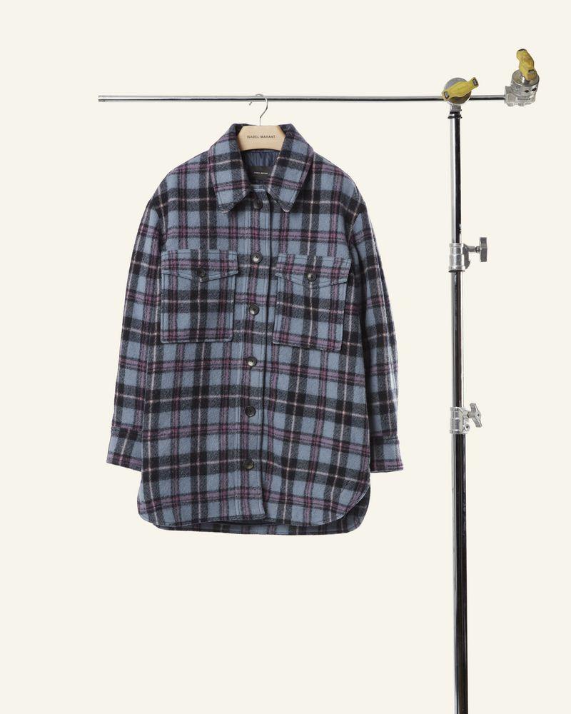 """长袖大衣 """"阔型衬衫""""廓形 纽扣前开襟 胸部翻盖口袋 ISABEL MARANT"""