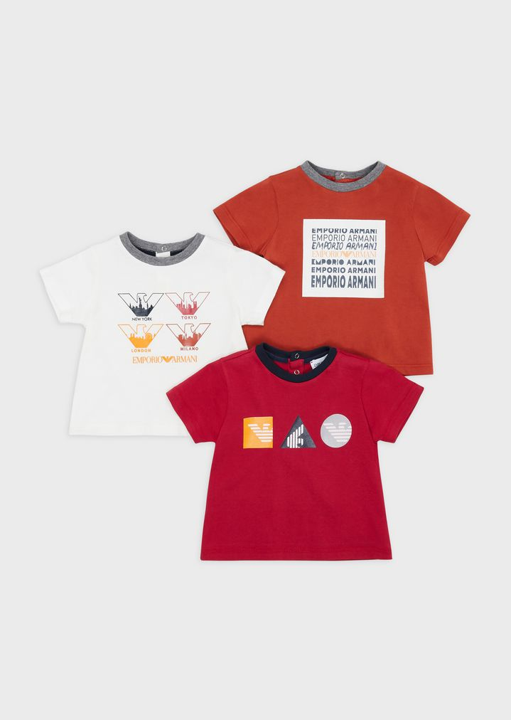 beauty best lowest price Pack of 3 T-shirts with logo prints