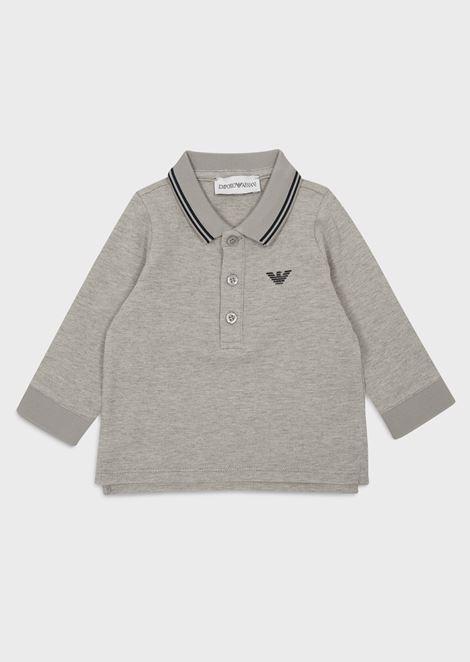 Poloshirt mit langen Ärmeln aus Baumwolle