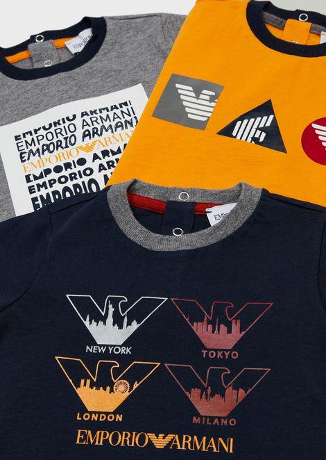 Set 3 t-shirt con stampe