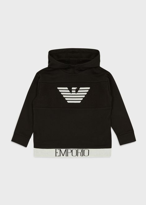 Sweatshirt with logo and hood