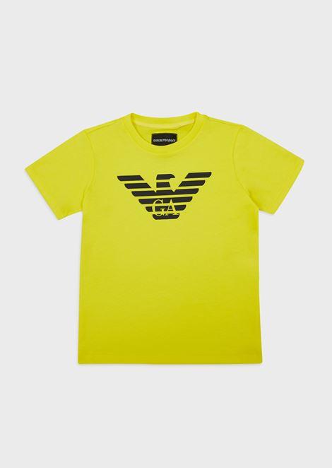Logoed pima jersey T-shirt