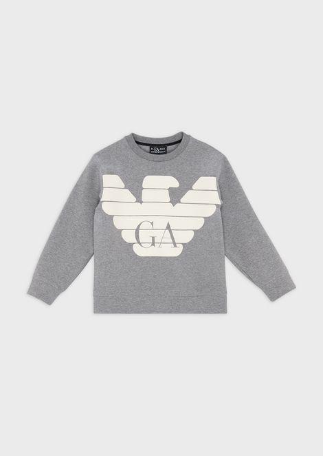 Sweatshirt with maxi eagle print