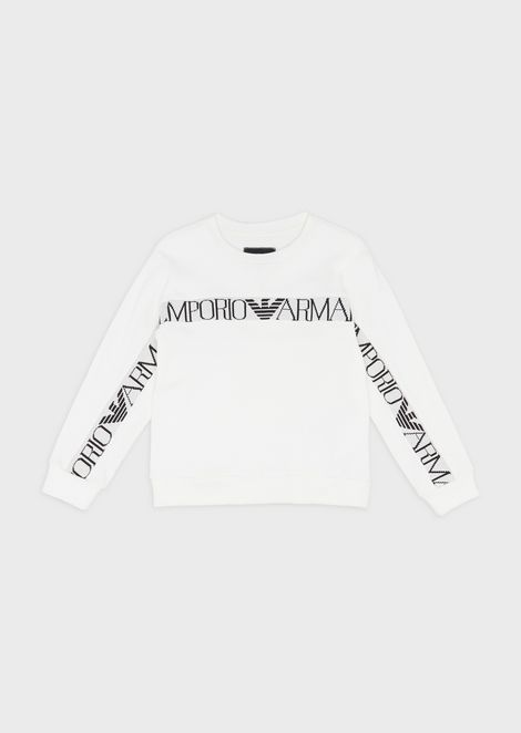 Sweatshirt with jacquard logo band