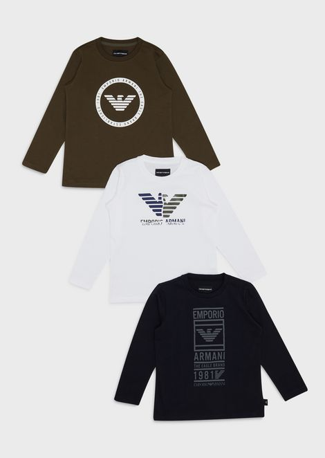 Pack of 3 logoed sweaters