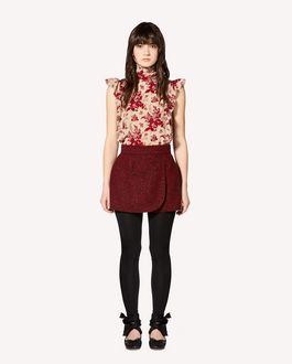 REDValentino Floral Tapestry printed silk top