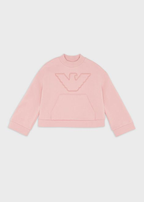 Sweatshirt with logo in relief