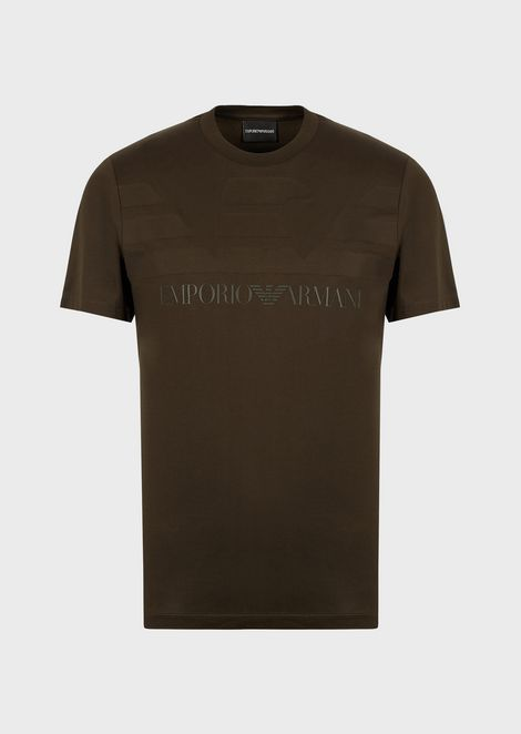 T-shirt in mercerised cotton jersey with logo